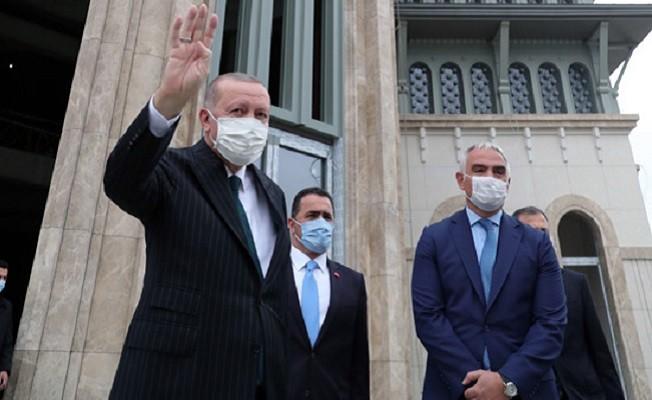 Cumhurbaşkanı Erdoğan AKM ve Taksim Camisi'nde ..