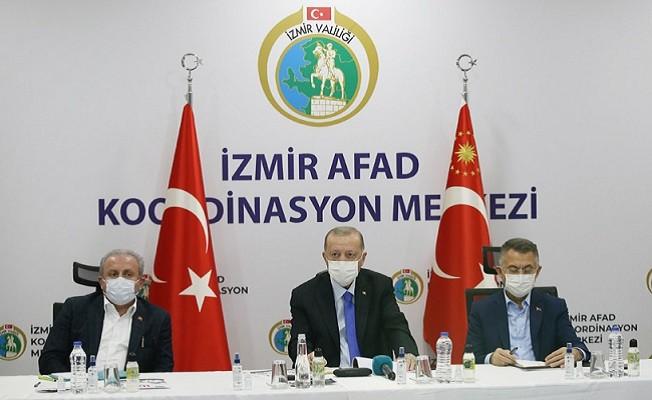 Cumhurbaşkanı Erdoğan İzmir Deprem Bölgesini Ziyaret Etti