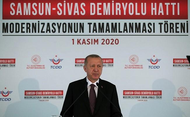 Erdoğan: Yüksek hızlı tren işletmesinde dünyada 8'inciyiz