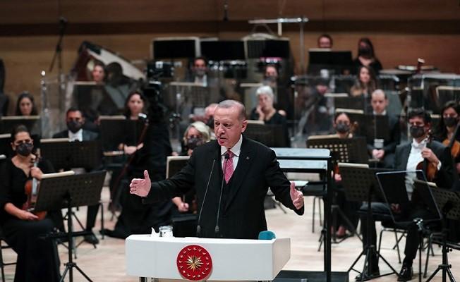 Cumhurbaşkanı Erdoğan, Cumhurbaşkanlığı Senfoni Orkestrası Konser Salonu Açılış Töreni'ne katıldı