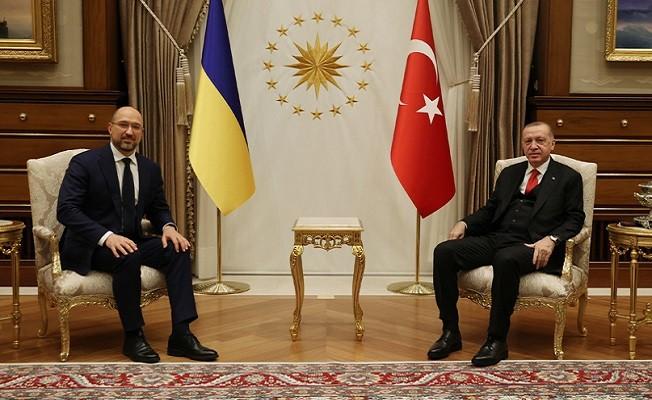 Cumhurbaşkanı Erdoğan, Ukrayna Başbakanı Shmyhal'i kabul etti