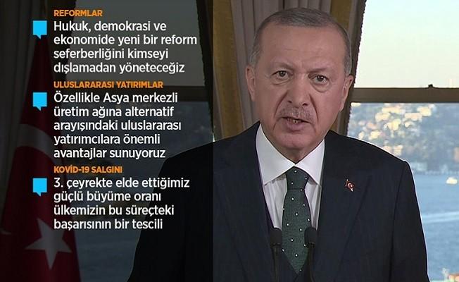 Erdoğan: Türk ekonomisi hamdolsun toparlanma sürecini başarıyla yürütüyor