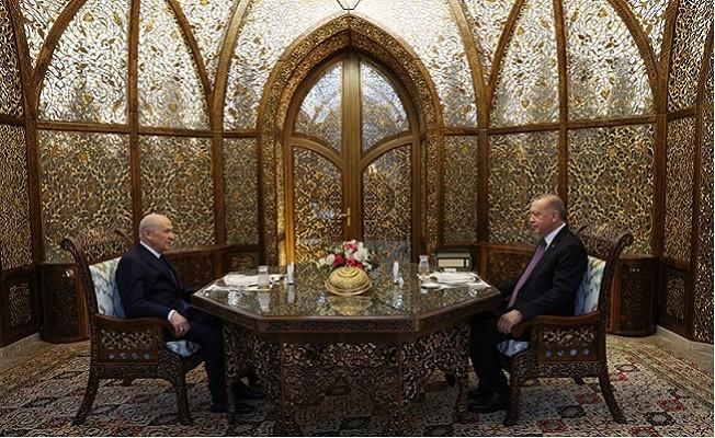 Başkan Erdoğan, MHP Genel Başkanı Bahçeli ile iftar yaptı