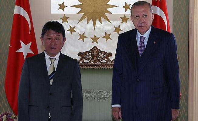 Başkan Erdoğan Japonya Dışişleri Bakanı'nı kabul etti