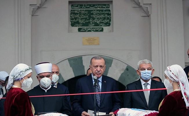 Başkan Erdoğan, Saraybosna'da restore edilen Başçarşı Camisi'nin açılışını yaptı