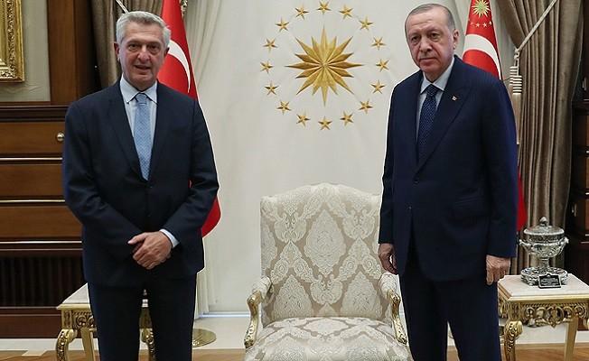 Başkan Erdoğan, BM Mülteciler Yüksek Komiseri'ni kabul etti