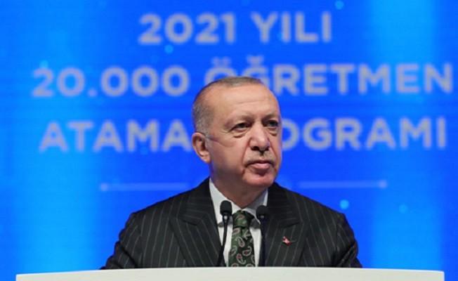 20 bin öğretmenin ataması yapıldı.  Başkan Erdoğan, Bundan sonra odaklanmamız gereken nokta eğitimin kalitesini artırmaktır