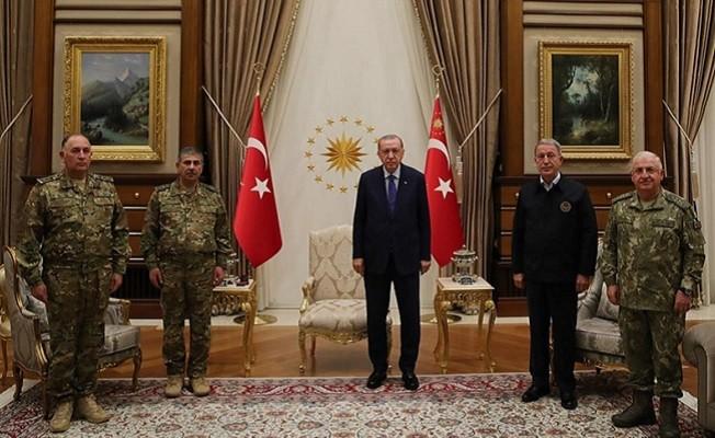 Cumhurbaşkanı Erdoğan, Azerbaycan Savunma Bakanı'nı kabul etti