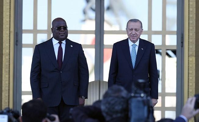 Kongo Cumhurbaşkanı Tshilombo Cumhurbaşkanlığı Külliyesinde