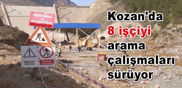 Adana Kozan'da 8 işçiyi arama çalışmaları sürüyor