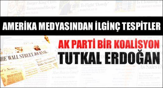 'AK Parti Bir Koalisyon Tutkal Erdoğan'