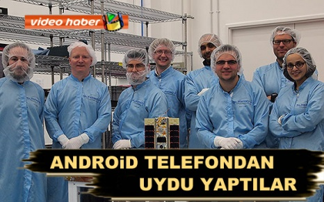 Android telefondan uydu yaptılar