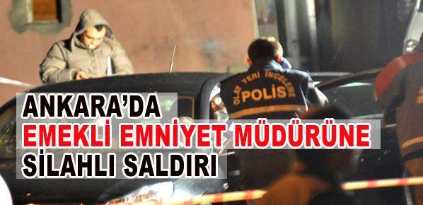 Ankara'da Emekli emniyet müdürü, aracında vurulmuş olarak bulundu