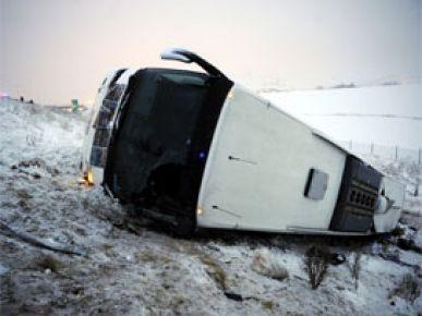 Ankara'da otobüs devrildi: 5 ölü