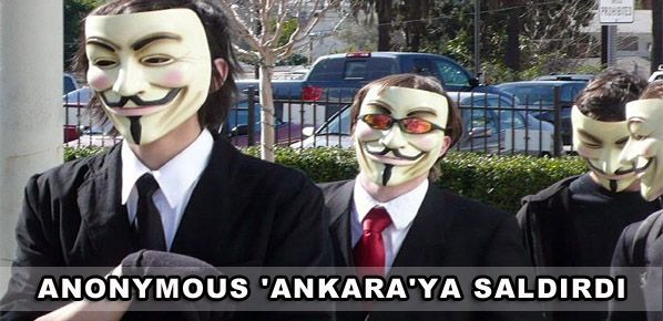 Anonymous 'Ankara'ya saldırdı