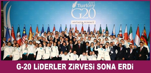 Antalya'da G-20 Liderler Zirvesi Sona Erdi
