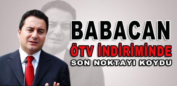 Babacan'a araçta ÖTV indirimi soruldu