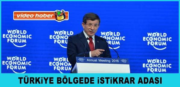 Başbakan Davutoğlu, Davos'ta Dünya Ekonomik Forumu'nda konuştu