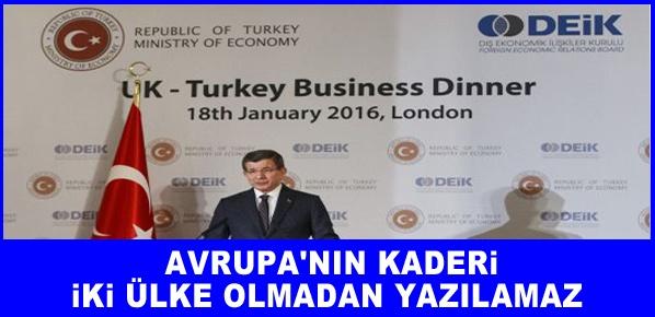 Başbakan Davutoğlu İngiltere'de Türk ve İngiliz işadamlarına hitap etti