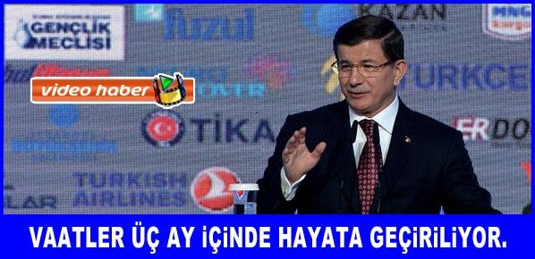 Başbakan Davutoğlu'ndan gençlere çağrı