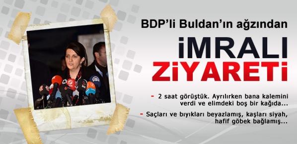 BDP'li Buldan'ın ağzından İmralı ziyareti