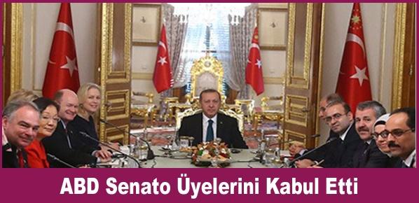 Cumhurbaşkanı Erdoğan, ABD Senato Üyelerini Kabul Etti
