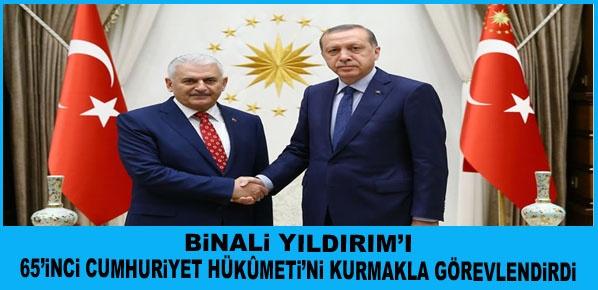 Cumhurbaşkanı Erdoğan, AK Parti Genel Başkanı Yıldırım'a Hükûmeti Kurma Görevini Verdi