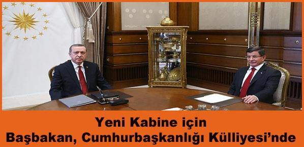 Cumhurbaşkanı Erdoğan Başbakan Davutoğlu'nu kabul ediyor