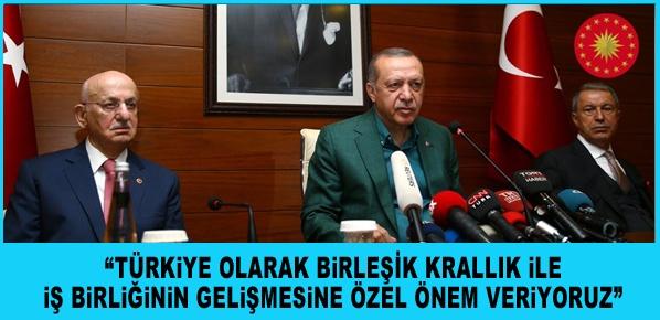 Cumhurbaşkanı Erdoğan Birleşik Krallık'ta