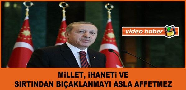 """Cumhurbaşkanı Erdoğan, """"Cehalet Talimle, Hata Özürle Giderilir Ama İhanetin İlacı Yoktur"""""""