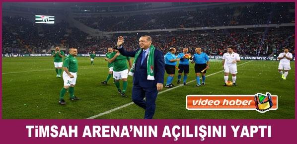 Cumhurbaşkanı Erdoğan, Timsah Arena'nın Açılışını Yaptı