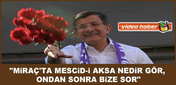 Davutoğlu, AK Parti'den zalime dost olmaz