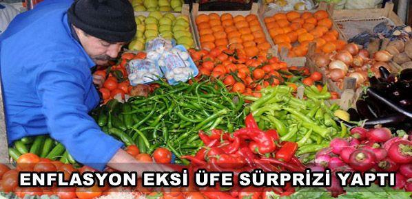 Enflasyon inişe geçti,  ÜFE eksi sürprizi yaptı