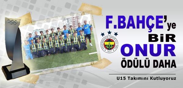 Fenerbahçe'ye bir onur ödülü daha