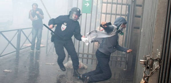 Fransa'da İsrail'i protesto edenlere polis şoku!