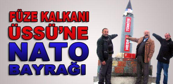 Füze Kalkanı Üssü'ne NATO bayrağı