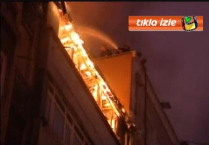 İstanbul, şişlide yangın paniği