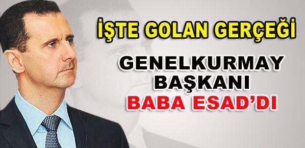 İşte Golan gerçeği!