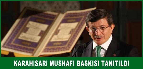 Karahisari Mushafı baskısı tanıtıldı
