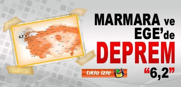 Marmara ve Ege'de Korkutan deprem 6,2