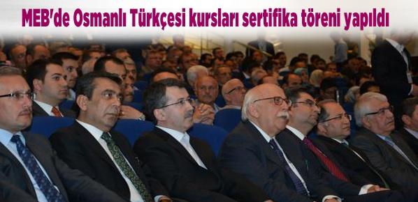 MEB'de Osmanlı Türkçesi kursları sertifika töreni yapıldı