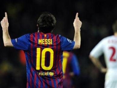 Messi Leverkusen'i topa tuttu: 7-1