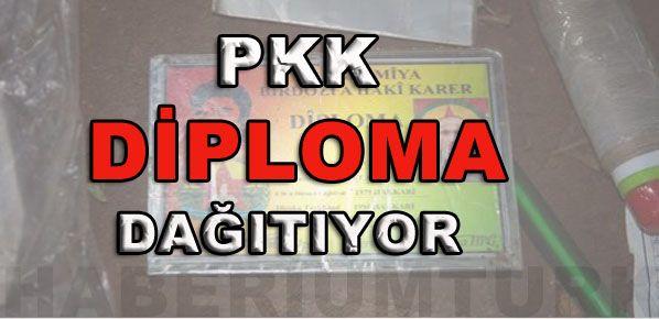 PKK DİPLOMA DAĞITIYOR