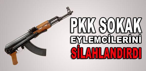 PKK sokak eylemcilerini silahlandırdı