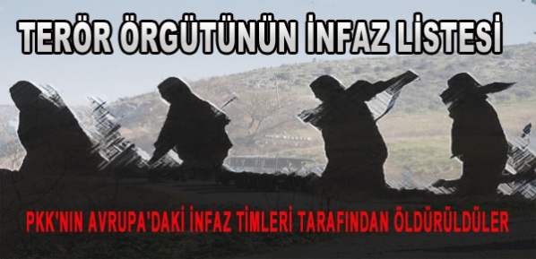 PKK'nın iç infazlarının listesi