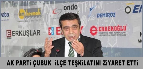 Salih Çelik,  AK Parti Çubuk  ilçe teşkilatını ziyaret etti