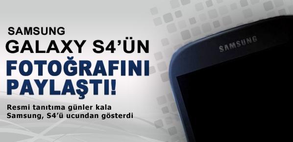 Samsung, Galaxy S4'ün fotoğrafını paylaştı