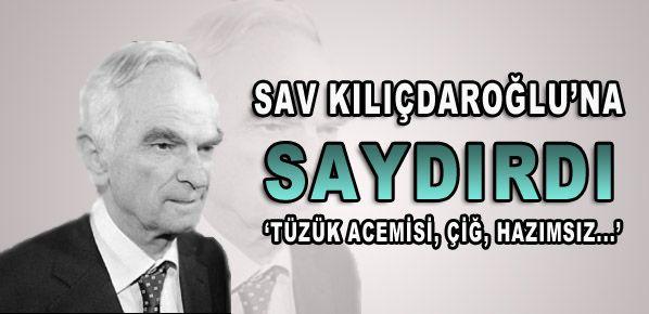 Sav Kılıçdaroğlu'na yüklendi
