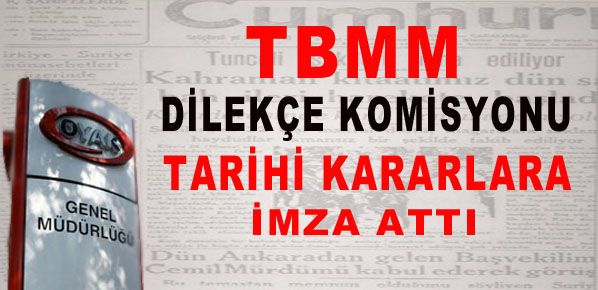 TBMM Dilekçe Komisyonu tarihi kararlara imza attı.