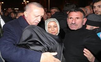 Başkan Erdoğan, depremin ardından Malatya'nın Doğanyol ilçesinde